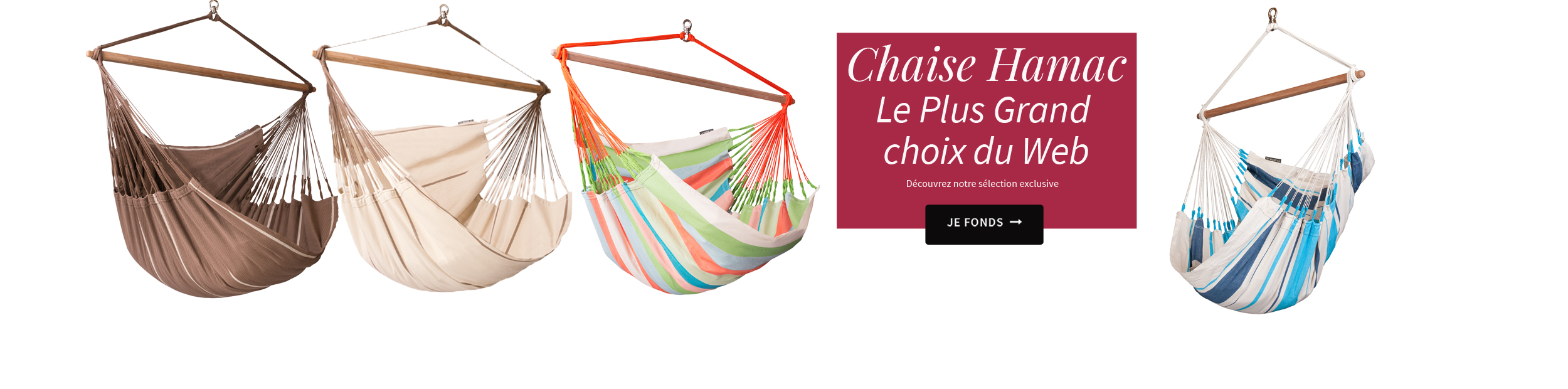Chaise-Hamac le plus grand choix du Web