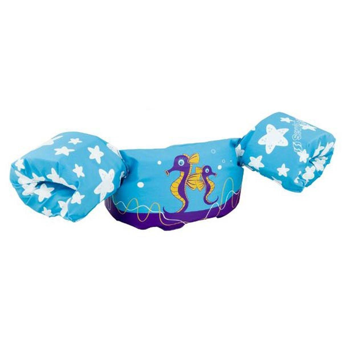 sevylor bou e enfant puddle jumper deluxe bleu hippocampe. Black Bedroom Furniture Sets. Home Design Ideas