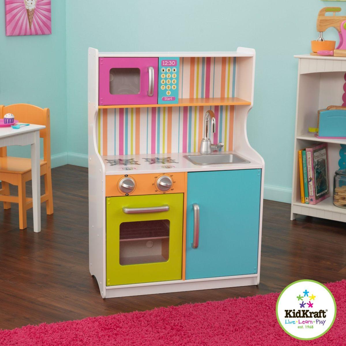 Kidkraft cuisine enfant au couleurs vives 53294 car - Cuisine enfant kidkraft ...