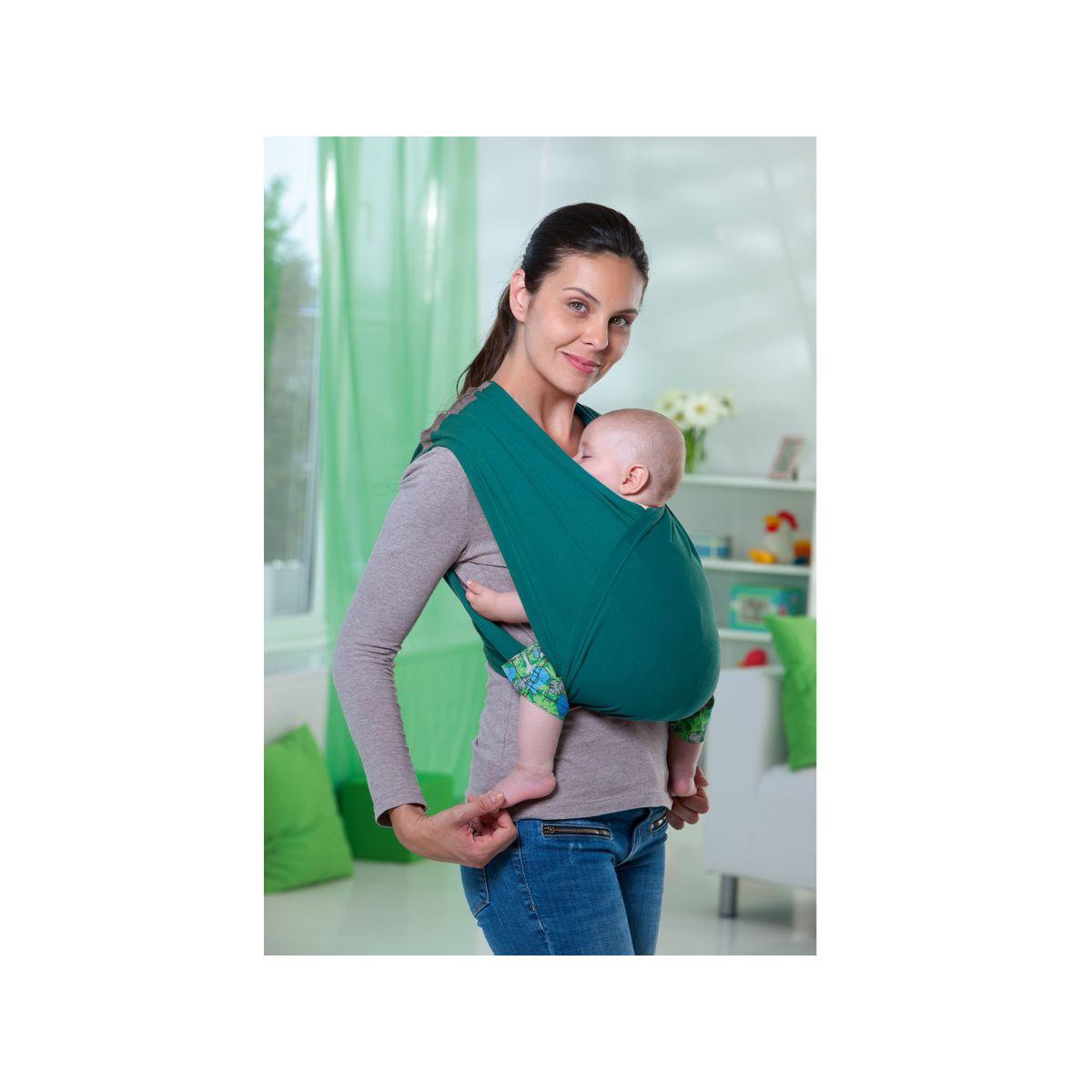 f48d1f736a6f AMAZONAS - Echarpe de portage sans noeud Carry Baby Petrol Acandi ...