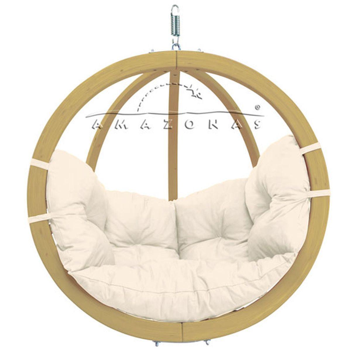 balancelle fauteuil suspendu globo amazonas ecru natura. Black Bedroom Furniture Sets. Home Design Ideas