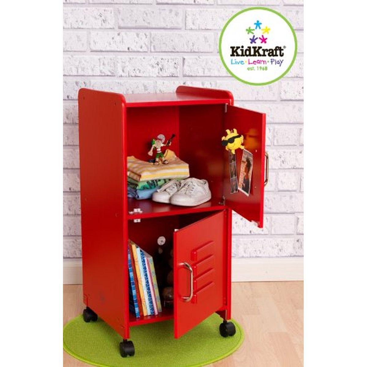 KIDKRAFT - Armoire pour chambre enfant taille moyenne ROUGE - 14322