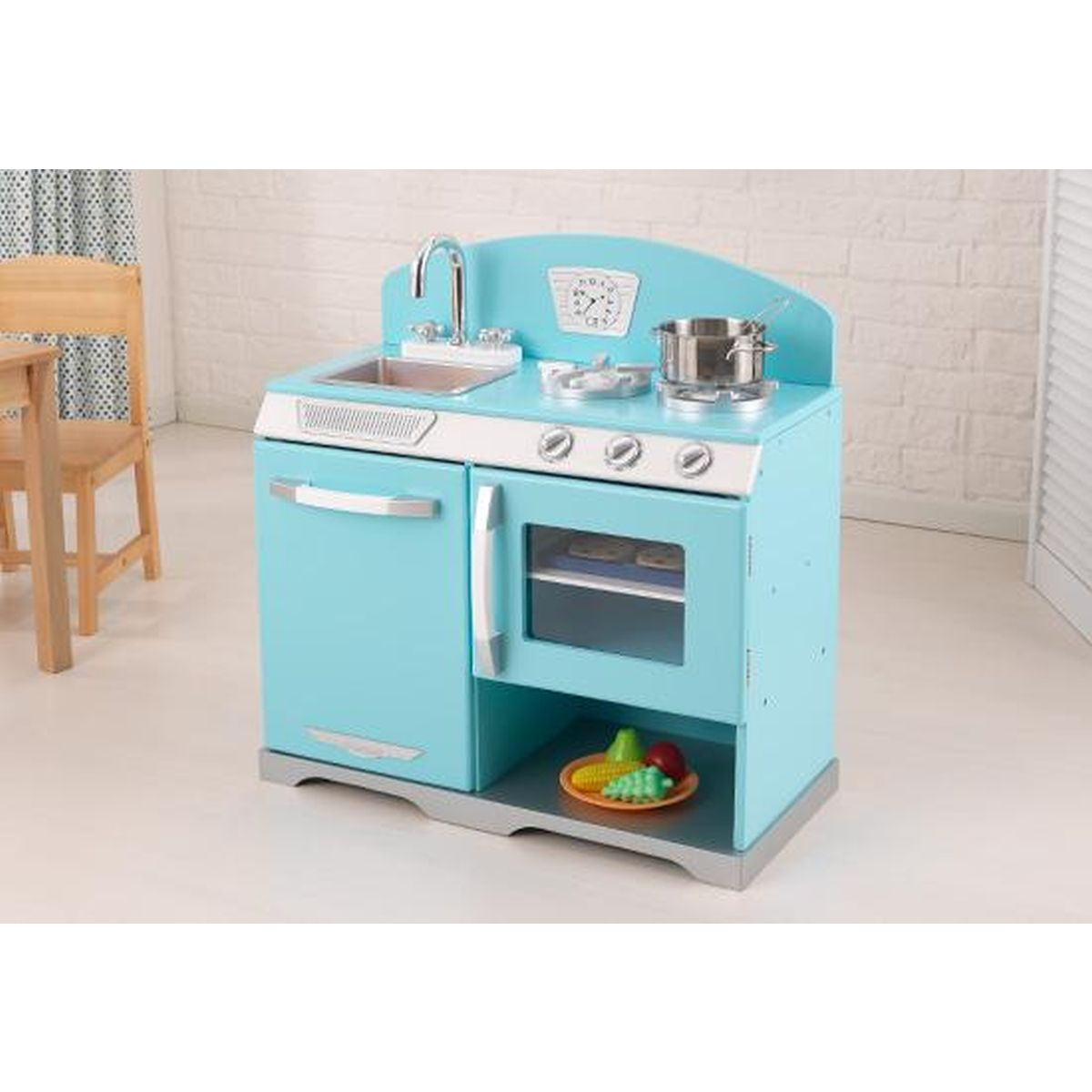 Kidkraft Cuisine Enfant Rechaud Bleu Retro 53252 Acandi Vente